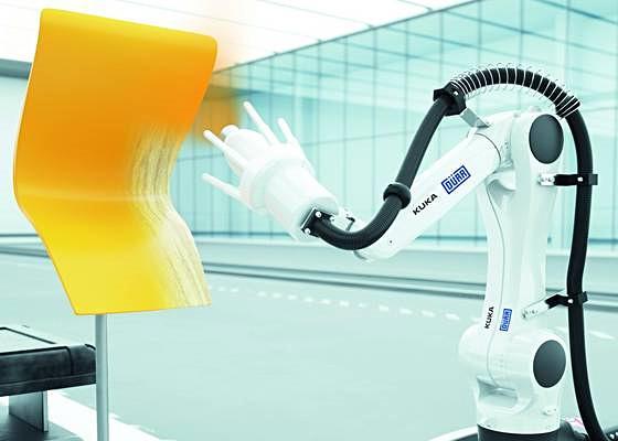 Electrostatic paint robotic cell