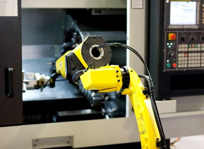 Machine Tending with robot